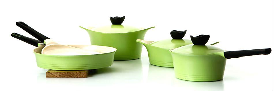 набор посуды с керамическим покрытием Ever Green от FRYBEST